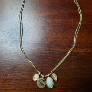 Lucky Brand double necklace with 4 pendants